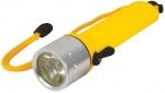 Фонарик для подводного плавания, 1 сверхяркий светодиод 3 Вт (4 АА батарейки), FIT, 67768