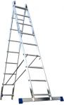 Лестница двухсекционная универсальная алюминиевая 2х13, АЛЮМЕТ, 5213