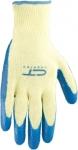 Перчатки х/б 10 класс, латексное рельефное покрытие, M, СИБРТЕХ, 67751