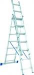 Лестница, 3 х 12 ступеней, алюминиевая, трехсекционная, СИБРТЕХ, 97822