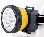 Фонарь LH-15A аккумуляторный налобный, 15 светодиодов, ЯРКИЙ ЛУЧ, 4606400607847